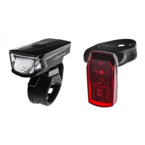 Комплект фонарей для велосипеда HW JY-7059B+JY-6069B