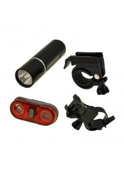 Комплект фонарей для велосипеда HW JY-246-3W + JY-596