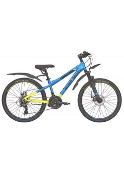 Велосипед подростковый RUSH HOUR XS 450 DISC (2021) Сине/Желтый
