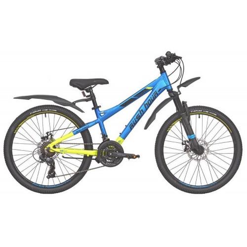 Велосипед подростковый RUSH HOUR XS 450 DISC Сине/Желтый