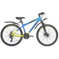 Велосипед подростковый RUSH HOUR XS 650 DISC (2021) Сине/Желтый