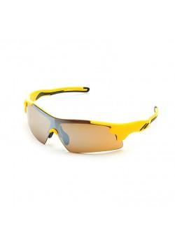 Очки солнцезащитные 2K S-14058-B (жёлтый/дымчатые зеркальные)