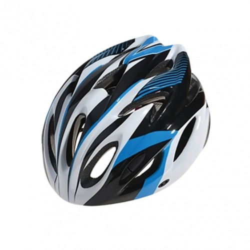 Шлем велосипедный Cigna WT-012 (чёрный/синий/белый)