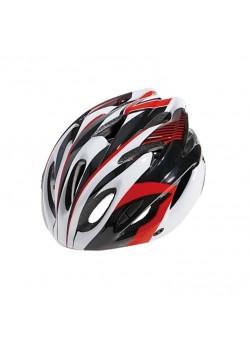Шлем велосипедный Cigna WT-012 (чёрный/красный/белый)