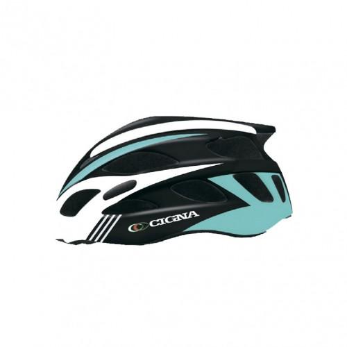 Шлем велосипедный Cigna WT-016 (чёрный/бирюзовый/белый)