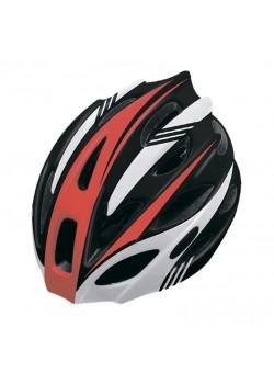 Шлем велосипедный Cigna WT-016 (чёрный/красный/белый)