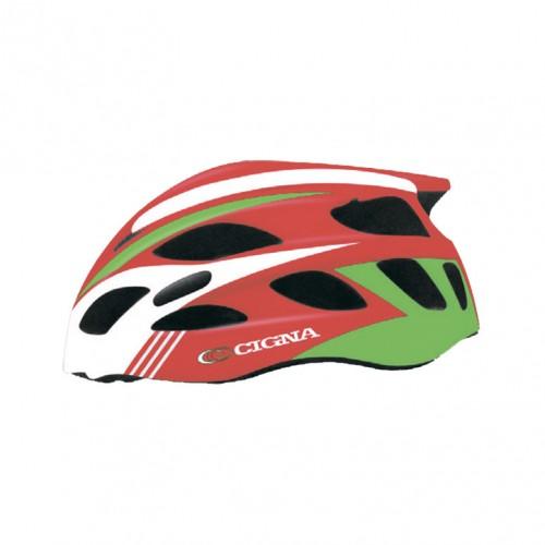 Шлем велосипедный Cigna WT-016 (красный/зелёный/белый)