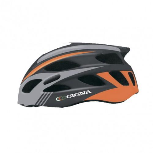 Шлем велосипедный Cigna WT-016 (чёрный/оранжевый/серый)