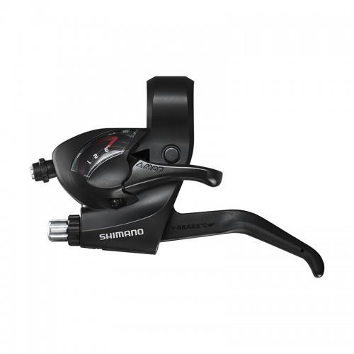Манетка переключения скоростей/Тормозная ручка Shimano Tourney ST-EF41 3 скорости